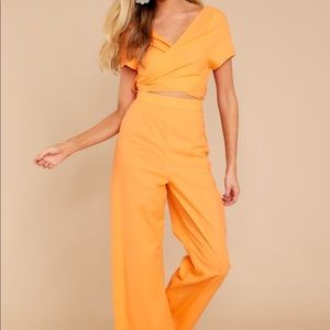 Tangerine jumpsuit